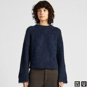 Uniqlo Shaggy Wool-Blend Mock Neck Sweater